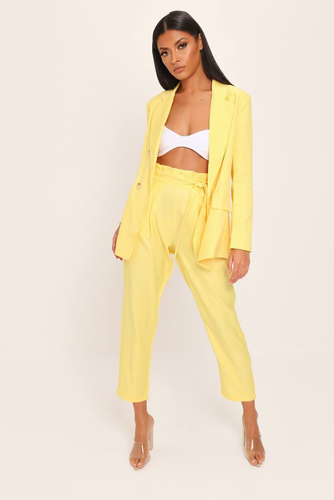 Yellow Tie Belted Trousers