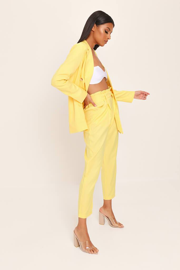 Yellow Tie Belted Trousers view 3