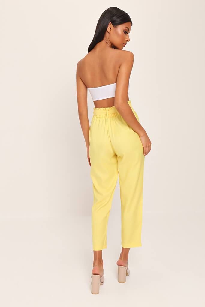 Yellow Tie Belted Trousers view 5