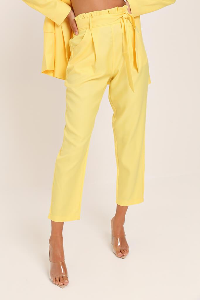Yellow Tie Belted Trousers view 2