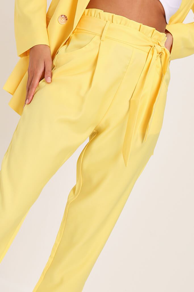 Yellow Tie Belted Trousers view 4