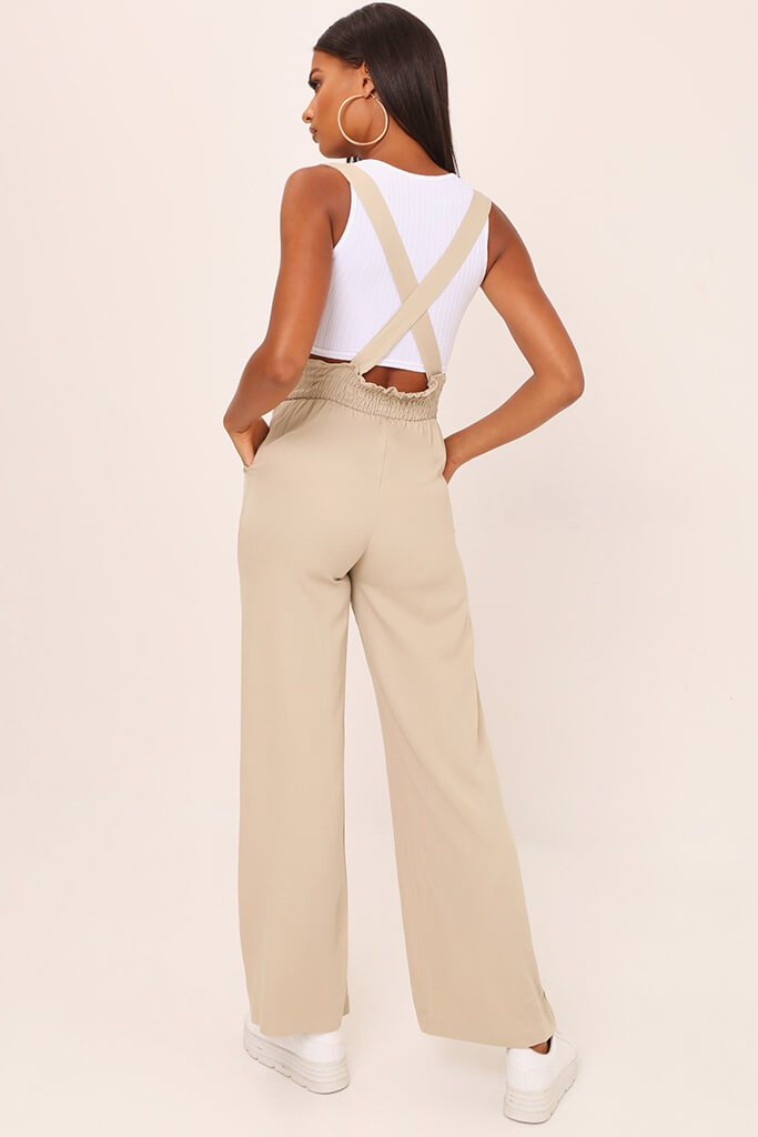 Stone Shirred High Waist Trousers view 5