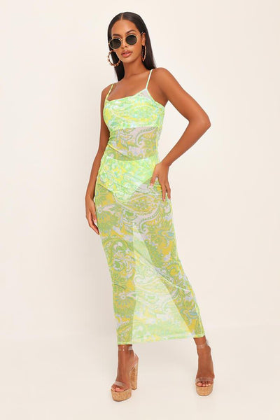 Lemon & Lime Mesh Maxi Dress by I Saw It First