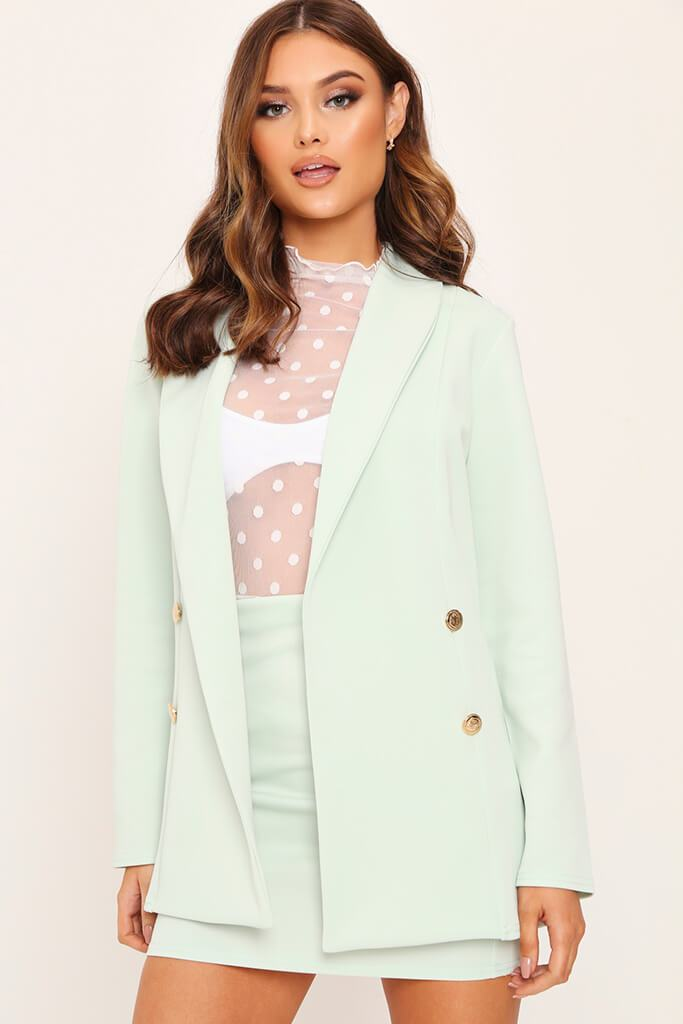 Mint Double Button Blazer view 2