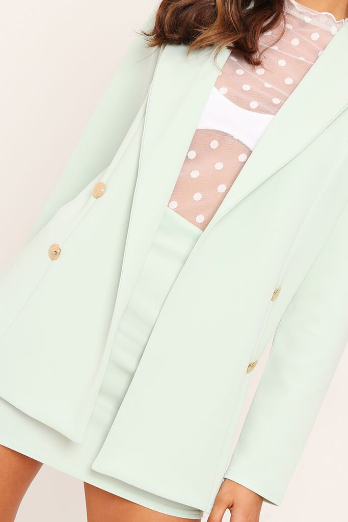 Mint Double Button Blazer view 4