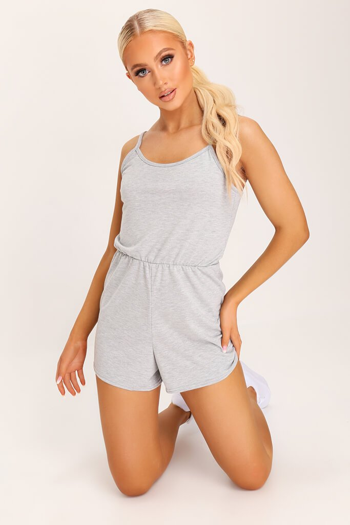Grey Basic Jersey Playsuit