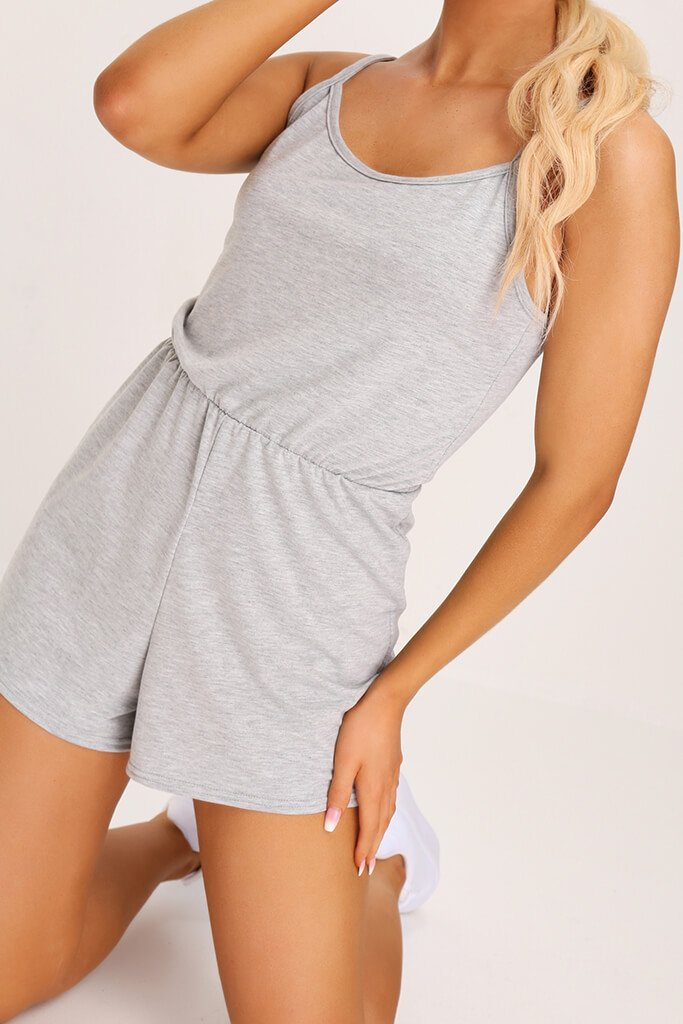 Grey Basic Jersey Playsuit view 4