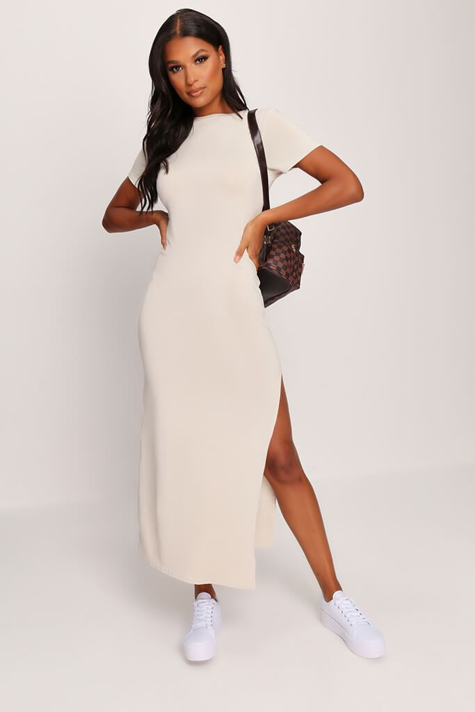 Stone Short Sleeve Maxi Dress view main view