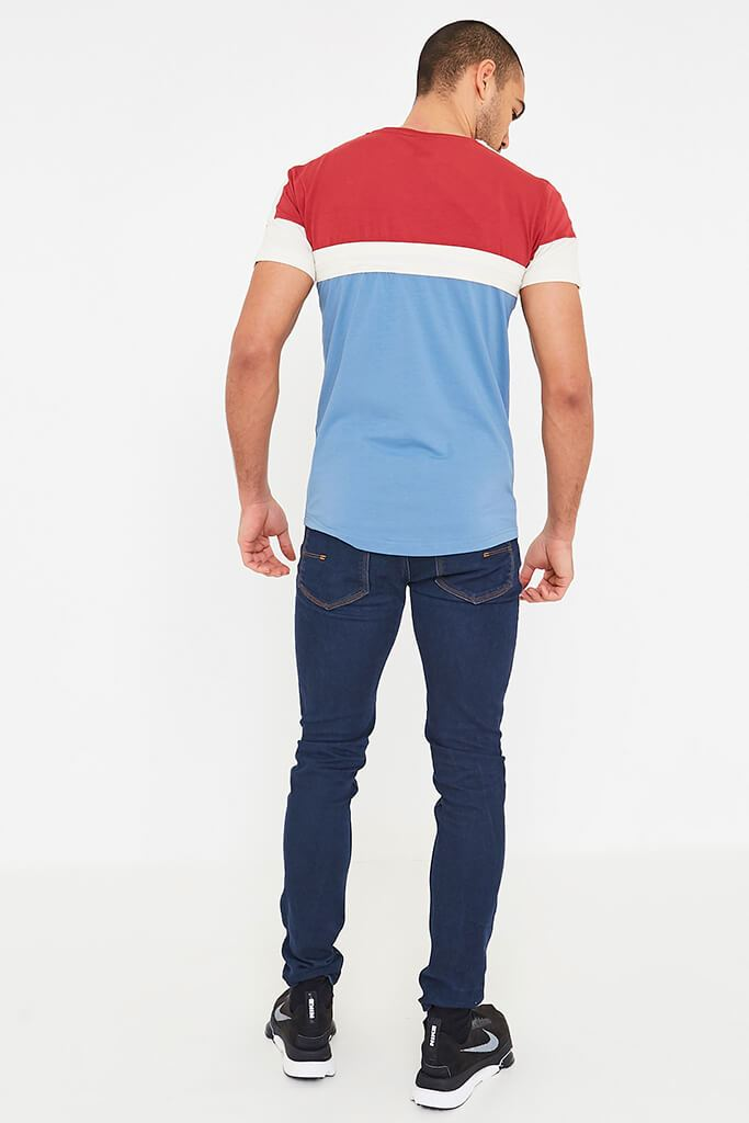 Mid Red Mens Klaptons Crs Colour Block Tee view 4