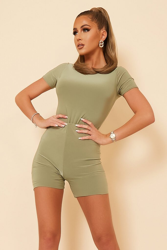Sage Double Layer Short Sleeve Bodysuit view 2