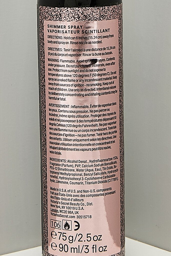 Victoria Secrets Tease Glitter Lust 75ml Shimmer Spray view 2