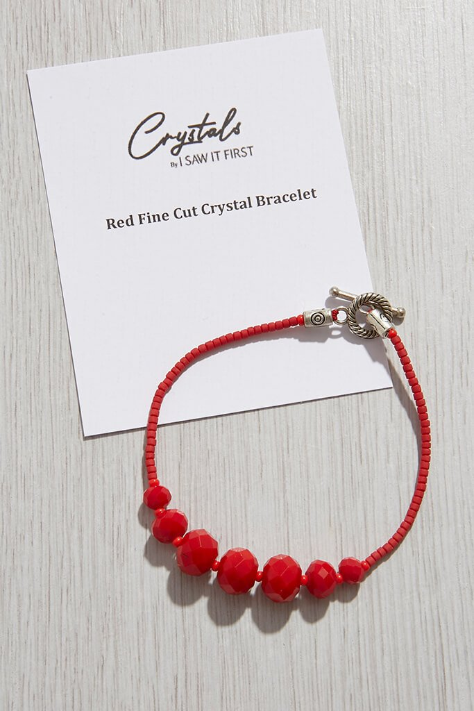 Red Fine Cut Crystal Bracelet view 2