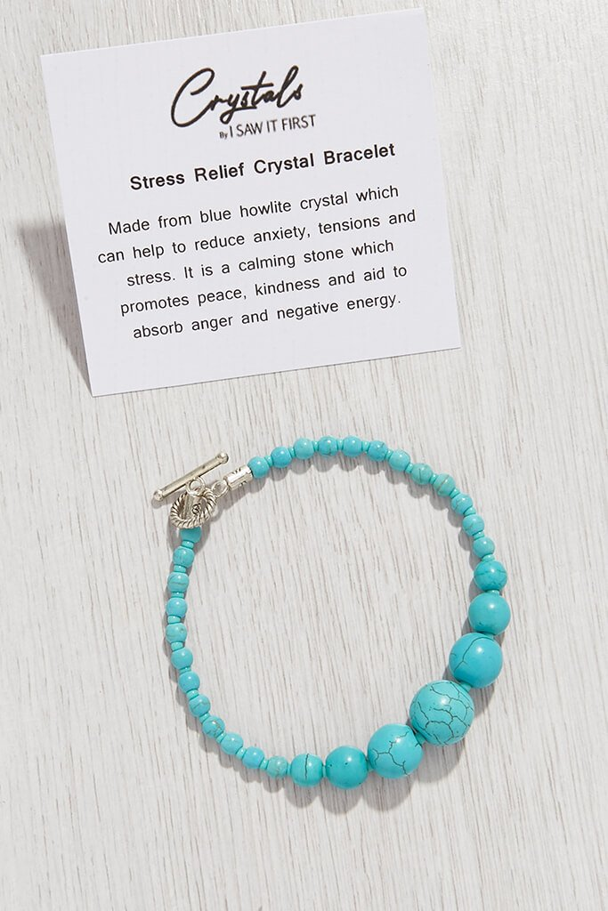 Blue Stress Relief Crystal Bracelet view 2