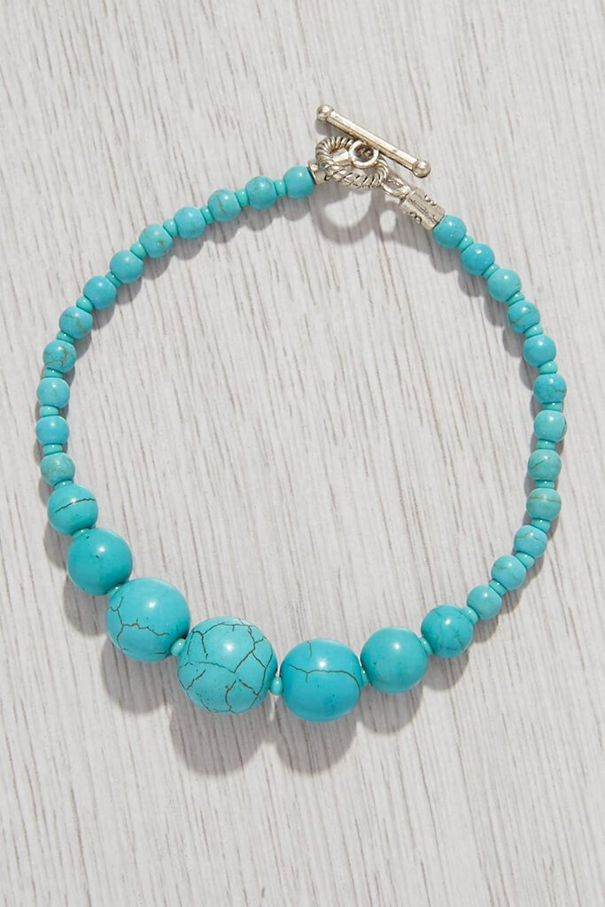 Blue Stress Relief Crystal Bracelet view 3