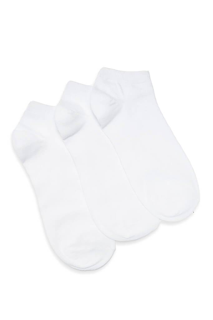 White 3 Pack Trainer Socks