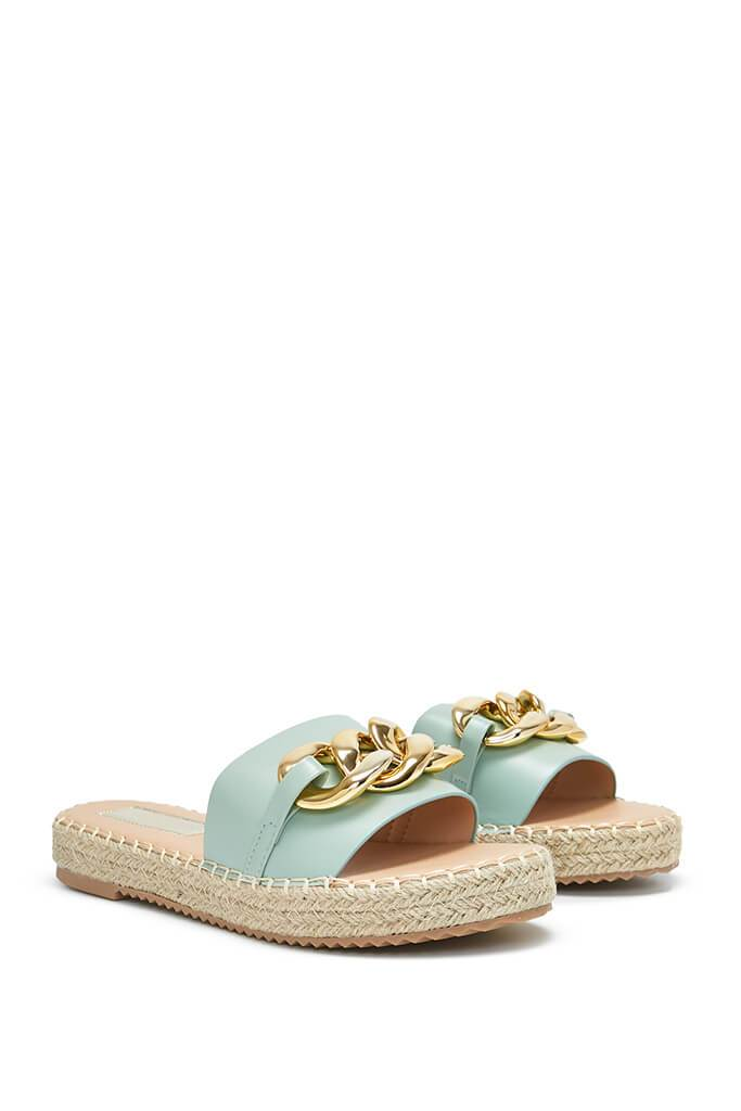 Sage Chain Espadrille Flatform Sandals view 4