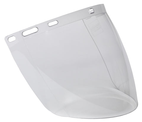 CLEAR UNCOATED VISOR SHAPED