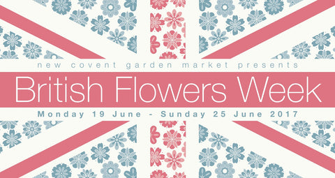 British Flowers Week New Covent Garden Flower Market Logo