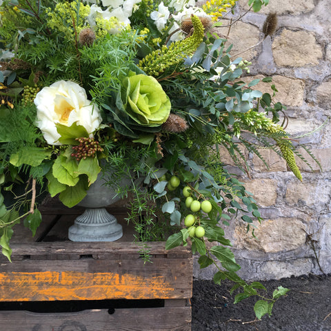 Floral display. Tallulah Rose Flower School Wedding class
