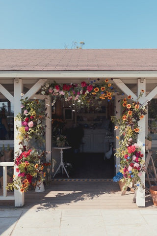 Floral Arch by Young Blooms for #Britishflowersweek