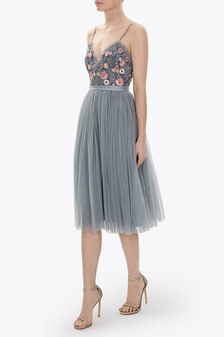 Needle and Thread Whisper Midi wedding guest dress