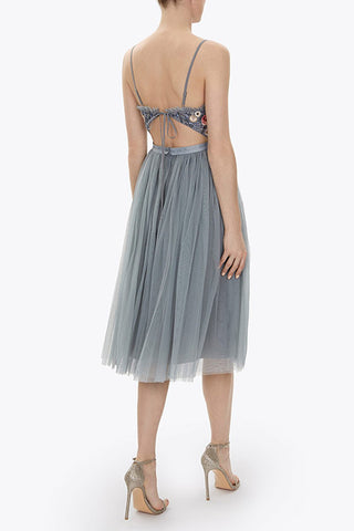 Needle and Thread Whisper Midi in grey
