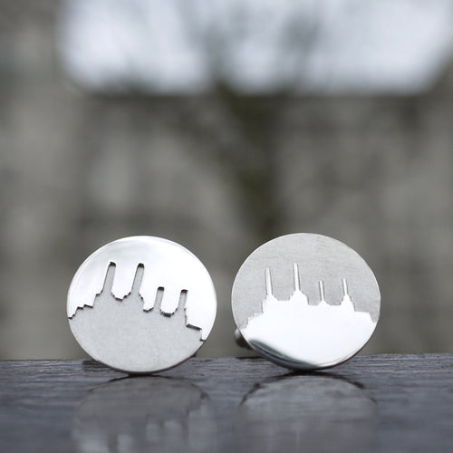 Sterling Silver Battersea Station cufflinks for your wedding