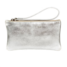 Silver clutch bag for wedding day