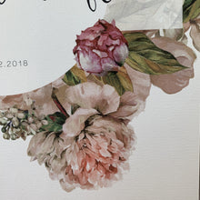 Floral detail on Paper anniversary art print