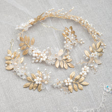 Bridal Hair Vine featuring in gold