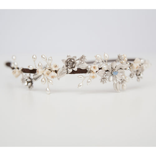 Stella Pearl and Silver head band
