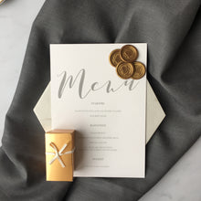 Chocolate wax seal effect wedding favours