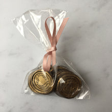 Milk chocolate wax seal wedding favours