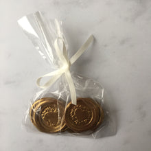 Dark chocolate wax seal effect wedding favours