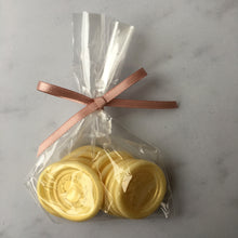 White chocolate wax seals for your wedding decor