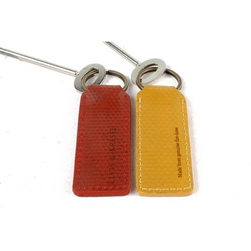 Fire hose Key Ring in red and yellow