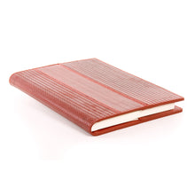 Red Fire hose repurposed into a beautiful notebook