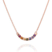 Rose Gold Rainbow Necklace