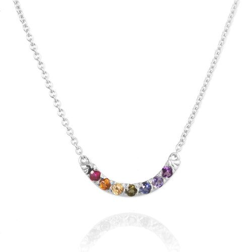 Silver Rainbow Necklace