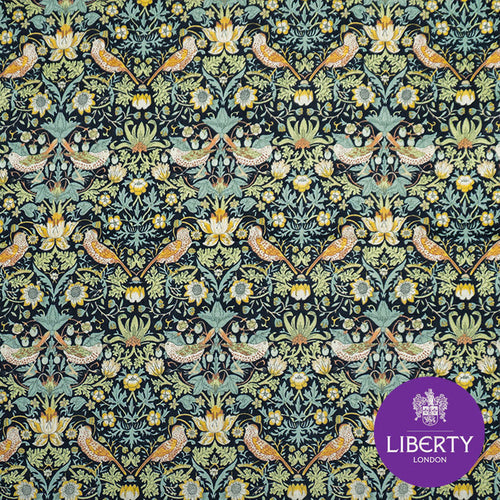 William Morris Strawberry Thief Liberty Pocket Square for the groom