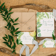 Green Botanical Wedding stationery Suite