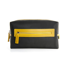 Black washable featuring yellow zip
