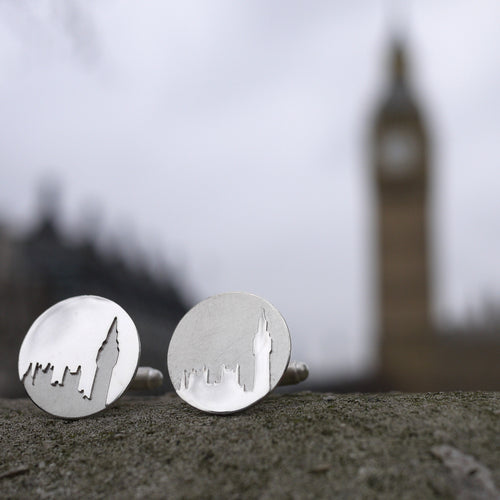 Sterling silver handmade Big Ben wedding Cufflinks