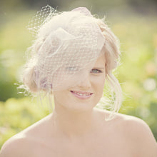 short birdcage bride veil