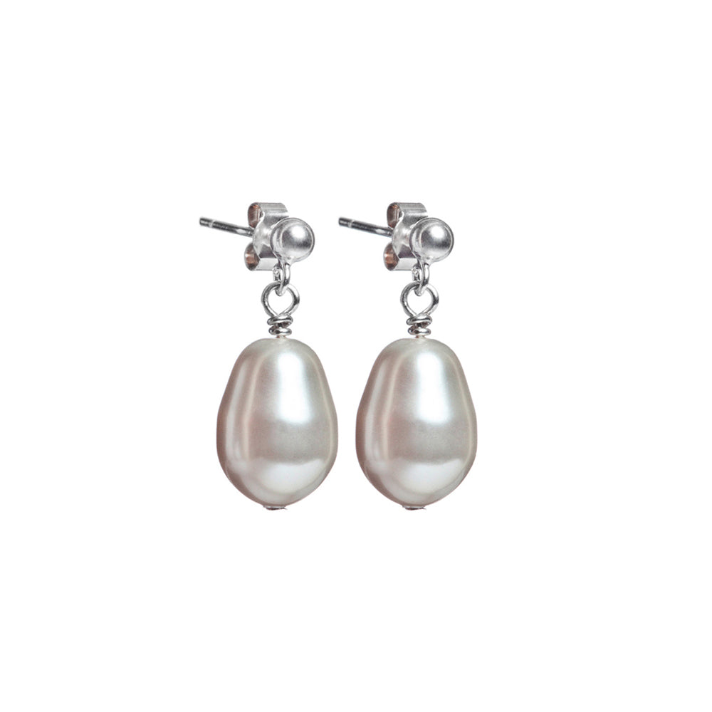 Pearl drop earrings for bride or bridesmaids