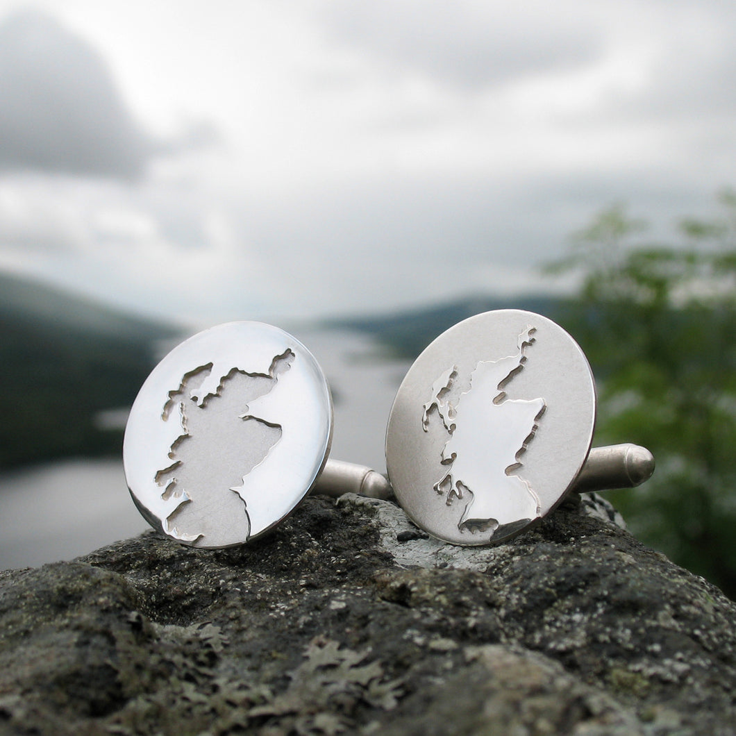 Handmade Sterling Silver Scotland cufflinks