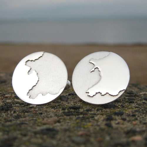 Sterling silver handmade Wales wedding Cufflinks