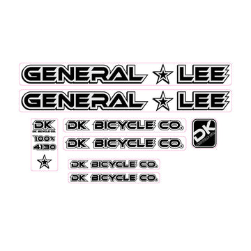 2000 DK General Lee BMX decals set