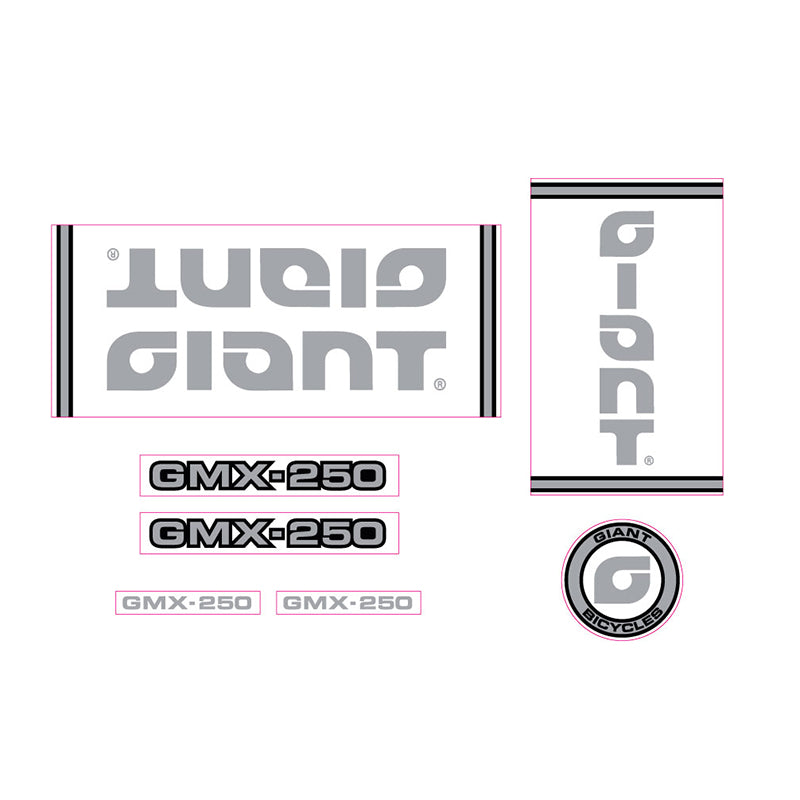 1980-1981-1982-1983 Giant GMX-250 BMX decal set 1