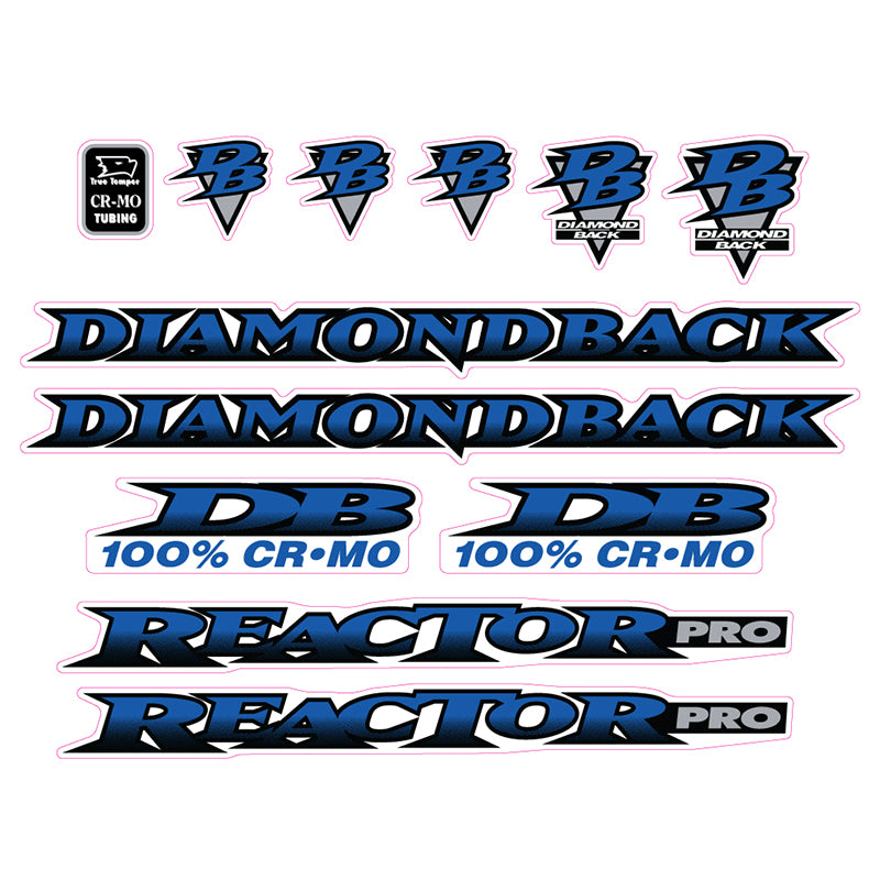 1995 Diamond Back Reactor Pro BMX decal set
